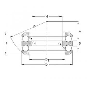 70 mm x 125 mm x 12 mm  NKE 54217-MP butées à billes
