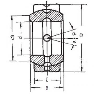 88,9 mm x 139,7 mm x 77,775 mm  FBJ GEZ88ES paliers lisses