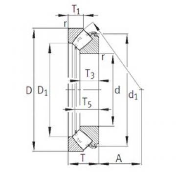 INA 29322-E1 roulements à rouleaux de poussée