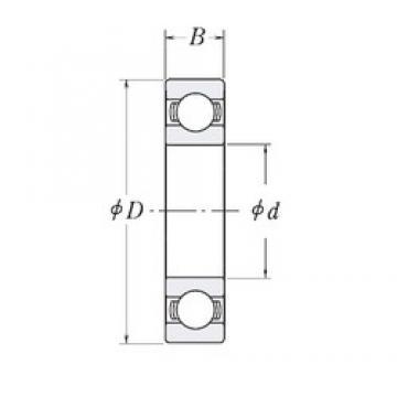 203,2 mm x 273,05 mm x 34,925 mm  RHP XLJ8 roulements rigides à billes