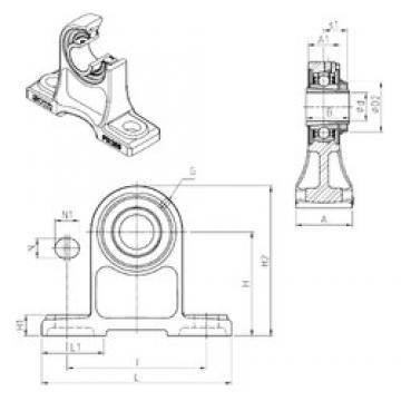 SNR UKPH210H unités de roulement
