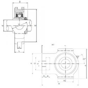 ISO UKT216 unités de roulement