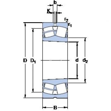 140 mm x 210 mm x 53 mm  SKF 23028 CCK/W33 roulements à rouleaux sphériques