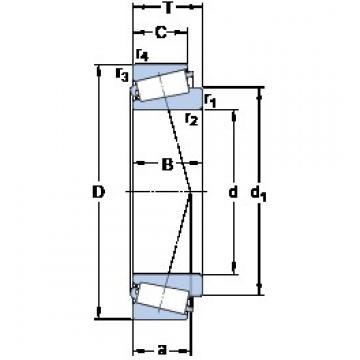190.475 mm x 279.4 mm x 57.15 mm  SKF M 239449/410 Roulements à rouleaux coniques