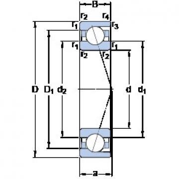 180 mm x 250 mm x 33 mm  SKF 71936 ACD/P4A roulements à billes à contact oblique