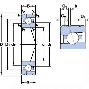 70 mm x 110 mm x 20 mm  SKF 7014 ACE/P4AL1 roulements à billes à contact oblique