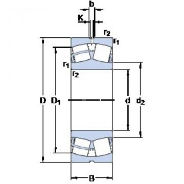 170 mm x 310 mm x 86 mm  SKF 22234 CC/W33 roulements à rouleaux sphériques