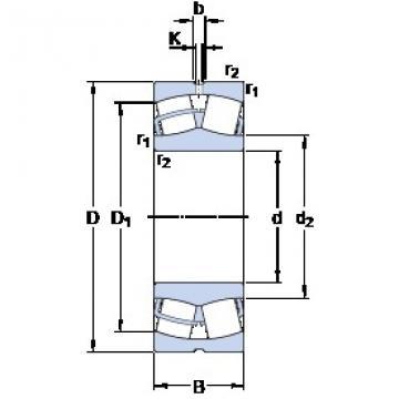 30 mm x 62 mm x 20 mm  SKF 22206 E roulements à rouleaux sphériques