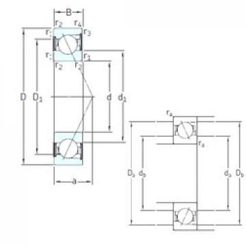45 mm x 85 mm x 19 mm  SNFA E 245 /S /S 7CE3 roulements à billes à contact oblique