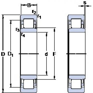 95 mm x 170 mm x 32 mm  SKF NU 219 ECM butées à billes