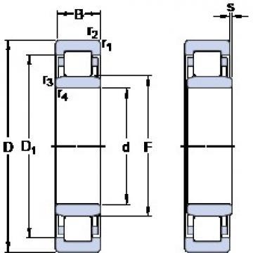 95 mm x 170 mm x 32 mm  SKF NU 219 ECP butées à billes