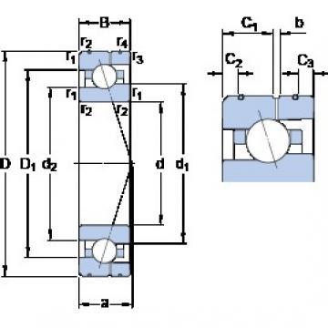 25 mm x 47 mm x 12 mm  SKF 7005 ACE/P4AL roulements à billes à contact oblique