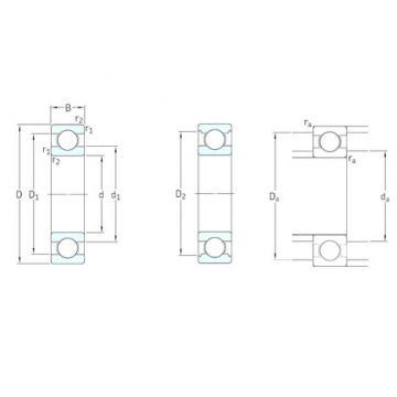 12 mm x 30 mm x 8 mm  SKF 16101 roulements rigides à billes