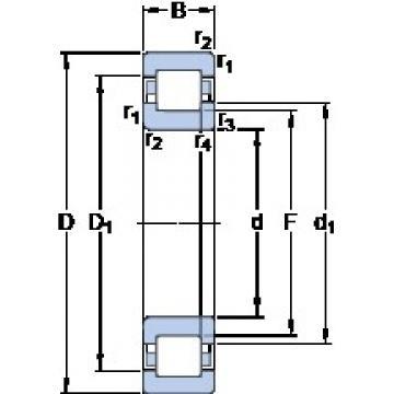 100 mm x 215 mm x 73 mm  SKF NUP 2320 ECP butées à billes