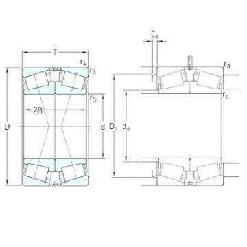200 mm x 310 mm x 70 mm  SKF 32040X/DF Roulements à rouleaux coniques