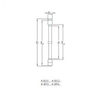 SKF K81248M roulements à rouleaux de poussée