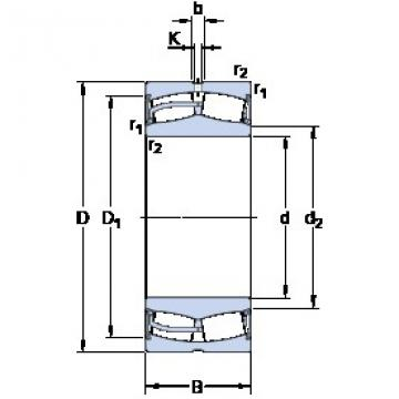 240 mm x 360 mm x 92 mm  SKF 23048-2CS5/VT143 roulements à rouleaux sphériques
