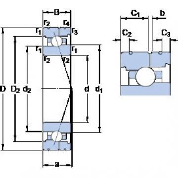90 mm x 140 mm x 24 mm  SKF 7018 CB/HCP4AL roulements à billes à contact oblique
