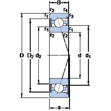 75 mm x 115 mm x 20 mm  SKF S7015 ACE/HCP4A roulements à billes à contact oblique
