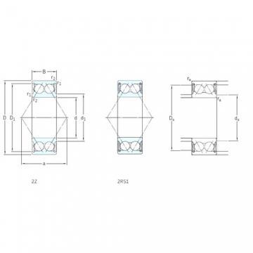 50 mm x 90 mm x 30,2 mm  SKF E2.3210A-2Z roulements à billes à contact oblique