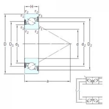 45 mm x 100 mm x 20 mm  SNFA BSD 45/100 /S 7P62U butées à billes