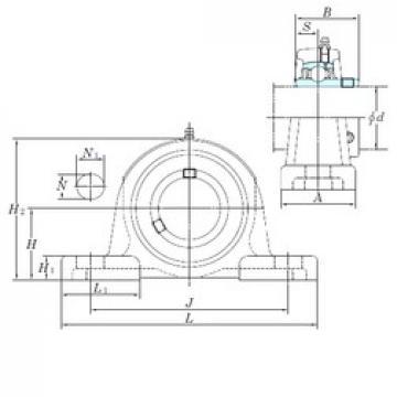 KOYO UCP205-16 unités de roulement