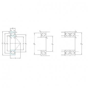 55 mm x 120 mm x 29 mm  SKF 7311BECBM roulements à billes à contact oblique
