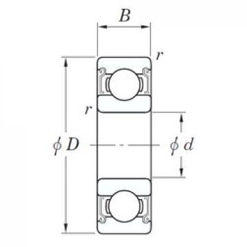 6 mm x 19 mm x 6 mm  KOYO SV 626 ZZST roulements rigides à billes