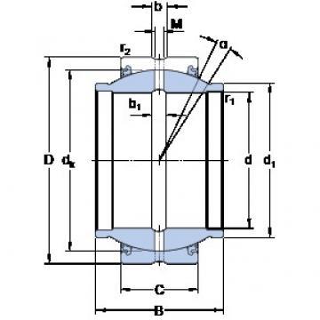 38.1 mm x 61.913 mm x 57.15 mm  SKF GEZM 108 ESX-2LS paliers lisses