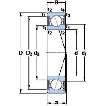 20 mm x 37 mm x 9 mm  SKF S71904 ACE/P4A roulements à billes à contact oblique