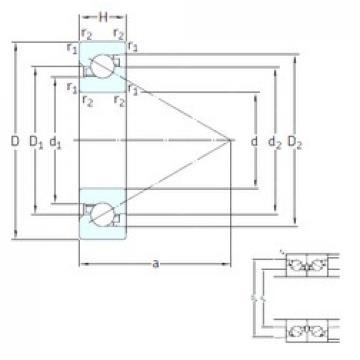 50 mm x 90 mm x 20 mm  SNFA BS 250 7P62U butées à billes